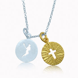 Livia Lacrosse Girl Silo With Gold Cross