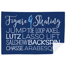 Figure Skating Premium Blanket - Typographic