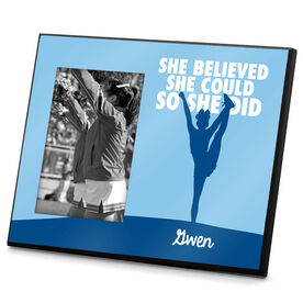 Cheerleading Photo Frame She Believed She Could So She Did