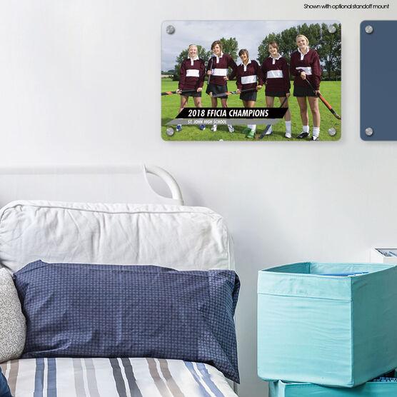 """Field Hockey 18"""" X 12"""" Aluminum Room Sign - Classic Horizontal Photo"""