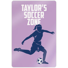 """Soccer 18"""" X 12"""" Aluminum Room Sign - Personalized Soccer Zone"""