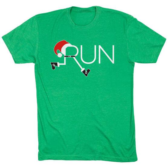 Running Short Sleeve T-Shirt - Let's Run For Christmas