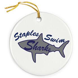 Swimming Porcelain Ornament Custom Swim Logo