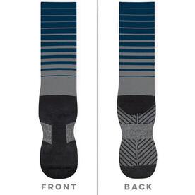 General Sports Printed Mid-Calf Socks - Stripes