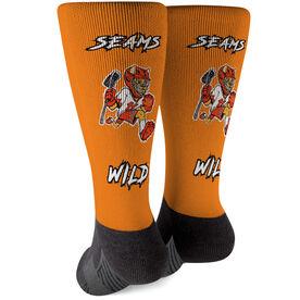 Seams Wild Lacrosse Printed Mid-Calf Socks - Pummell