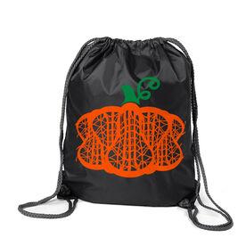 Girls Lacrosse Sport Pack Cinch Sack - Lax Stick Pumpkin
