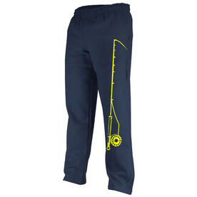 Fly Fishing Fleece Sweatpants Fishing Rod