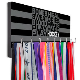 Hockey Hooked on Medals Hanger - Bones Saying