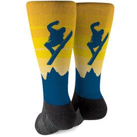 Snowboarding Printed Mid-Calf Socks - Airborne