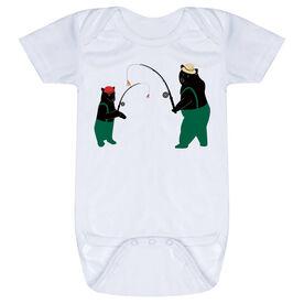 Fly Fishing Baby One-Piece - Bears