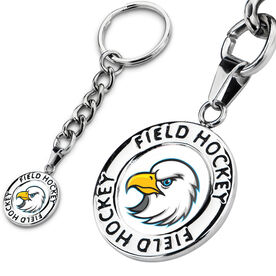 Field Hockey Circle Keychain Your Logo