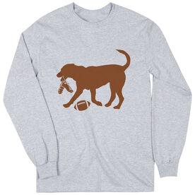 Football Tshirt Long Sleeve Flash The Football Dog