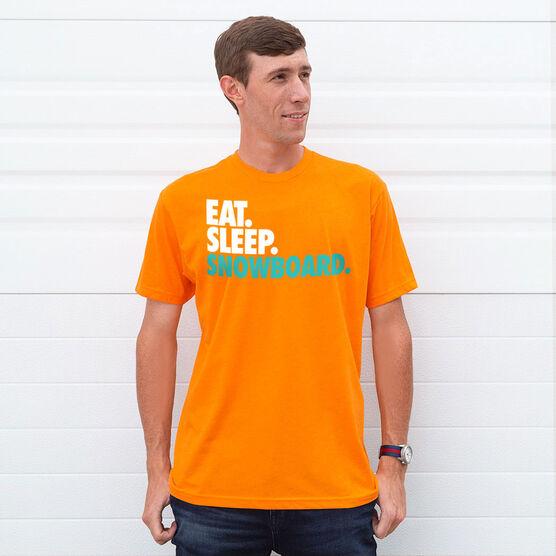 Snowboarding T-Shirt Short Sleeve Eat. Sleep. Snowboard.