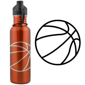 Basketball Ball 24 oz Stainless Steel Water Bottle