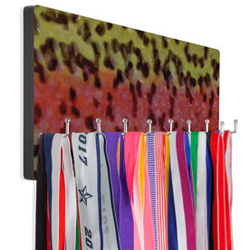 Fly Fishing Hook Board Rainbow Trout Scales