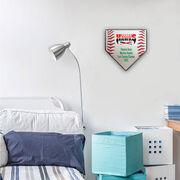 Baseball Your Logo Home Plate Plaque