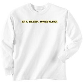 Wrestling Tshirt Long Sleeve Eat Sleep Wrestling