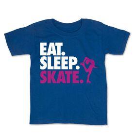 Figure Skating Toddler Short Sleeve Tee - Eat. Sleep. Skate.