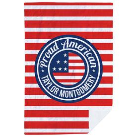 Personalized Premium Blanket - Proud American