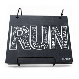 BibFOLIO® Race Bib Album - Inspire to RUN Chalkboard