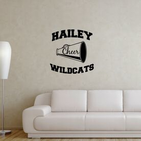 Personalized Cheer with Team Name Removable ChalkTalkGraphix Wall Decal