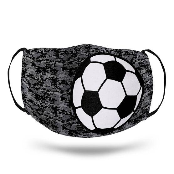 Soccer Face Mask - Digital Camo Soccer