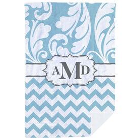 Personalized Premium Blanket - Monogram 2 Tone Pattern