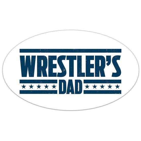Wrestling Oval Car Magnet Wrestler's Dad