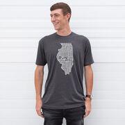 Running Short Sleeve T-Shirt - Illinois State Runner
