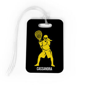 Girls Lacrosse Bag/Luggage Tag - Personalized Goalie