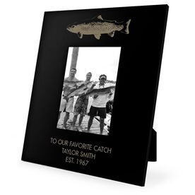 Fly Fishing Engraved Picture Frame - Top Fish