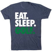 Golf T-Shirt Short Sleeve Eat. Sleep. Golf.