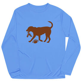 Football Long Sleeve Performance Tee - Flash The Football Dog