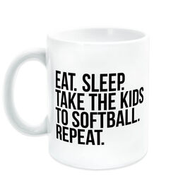 Softball Coffee Mug - Eat Sleep Take The Kids To Softball