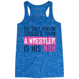 Wrestling Flowy Racerback Tank Top - Tougher Than A Wrestler Mom