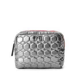 Valentina Cosmetic Case - Silver