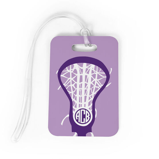 Girls Lacrosse Bag/Luggage Tag - Monogrammed Lax is Life