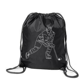 Hockey Sport Pack Cinch Sack - Hockey Player Sketch