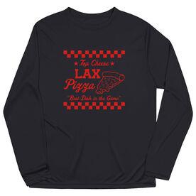 Lacrosse Long Sleeve Performance Tee - Lax Pizza