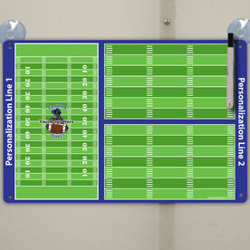 """Football Custom Dry Erase Coach Board Full And Partial Fields - 18"""" X 12"""""""