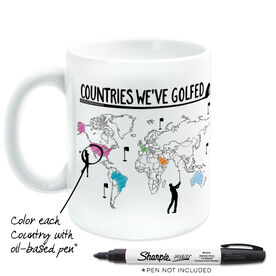 Golf Coffee Mug - Countries We've Golfed Outline