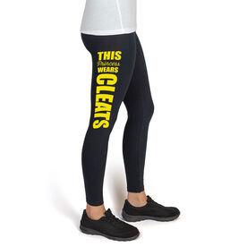 Softball High Print Leggings This Princess Wears Cleats