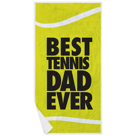 Tennis Premium Beach Towel - Best Dad Ever