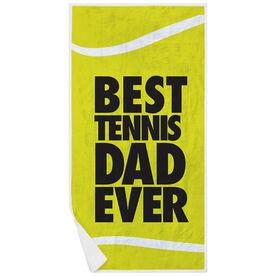 Tennis Premium Beach Towel - Best Dad Ever