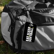 Softball Bag/Luggage Tag - Eat Sleep Softball