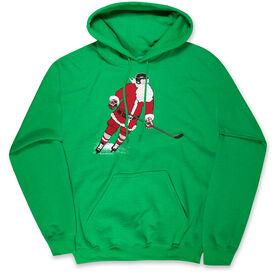 Hockey Hooded Sweatshirt - Slap Shot Santa