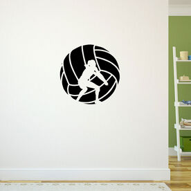 Volleyball Wall Decal Volleyball Player Silhouette