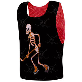 Hockey Pinnie - Halloween Skeleton