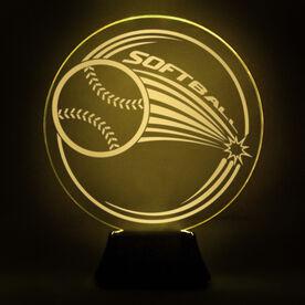 Softball Acrylic LED Lamp Home Run