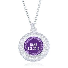 Personalized Braided Circle Necklace - Established Nana